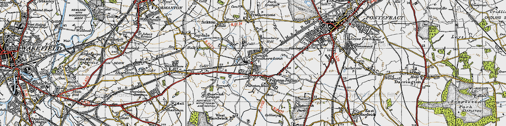 Old map of Featherstone in 1947