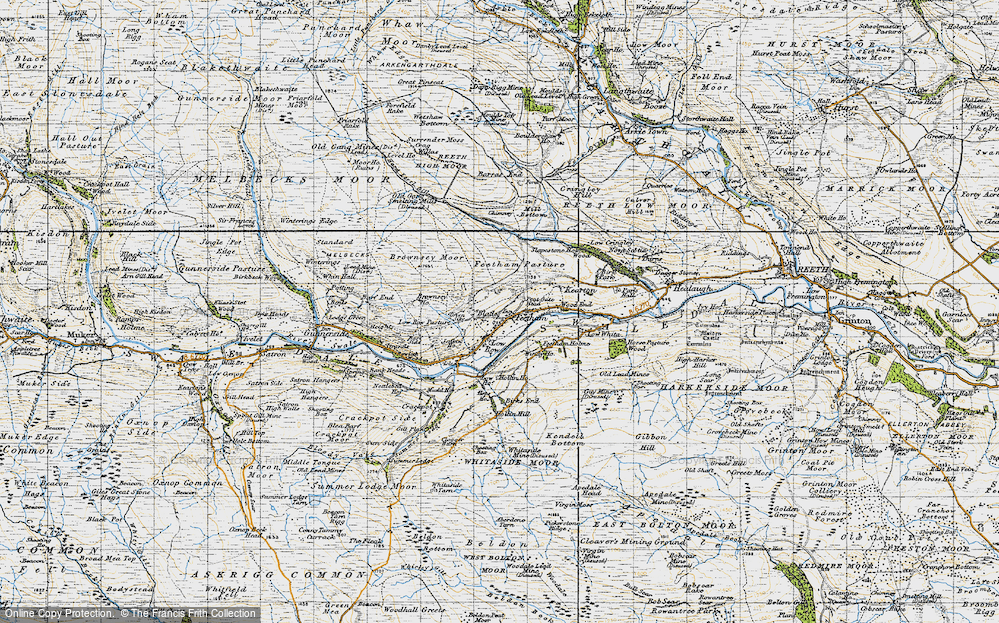 Old Map of Feetham, 1947 in 1947