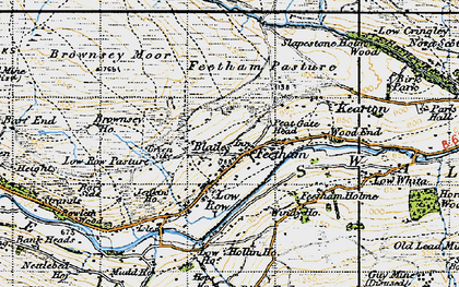 Old map of Feetham in 1947