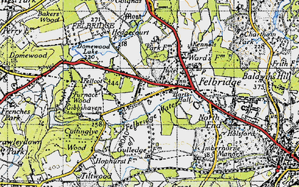 Old map of Felbridge in 1946