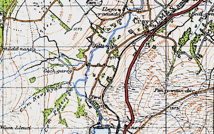 Old map of Aberhyddnant in 1947