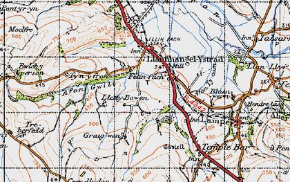 Old map of Felinfach in 1947