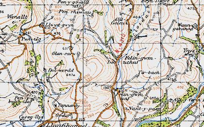 Old map of Ynyswen in 1946