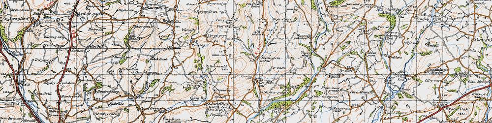 Old map of Allt-y-golau-Uchaf in 1946