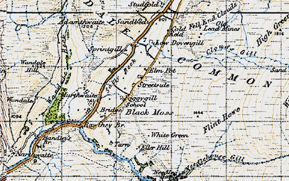 Old map of Adamthwaite in 1947