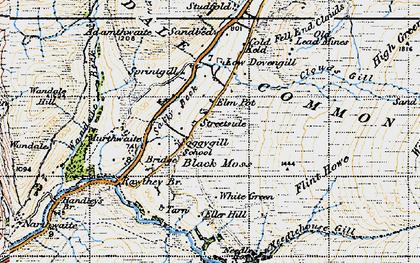 Old map of Backside Beck in 1947