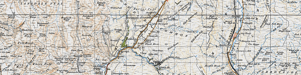 Old map of White Green in 1947