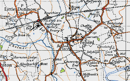 felsted essex map