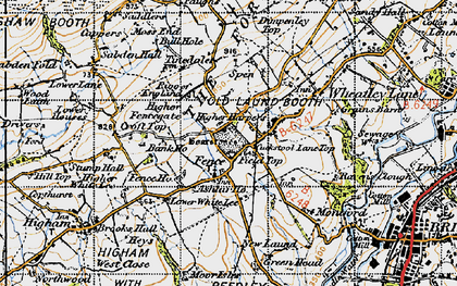 Old map of Ashlar Ho in 1947