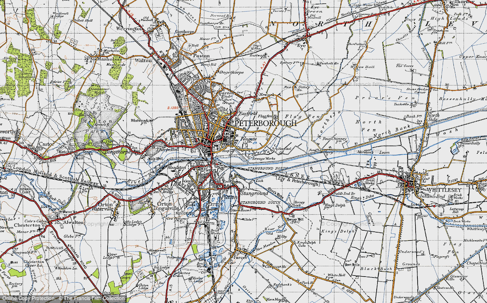 Old Map of Fengate, 1946 in 1946