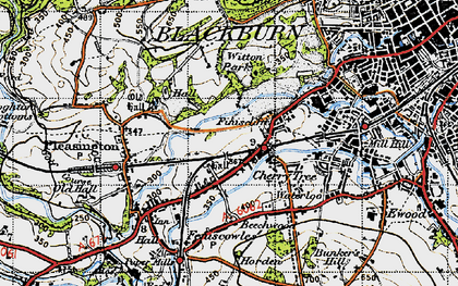 Old map of Witton Country Park in 1947