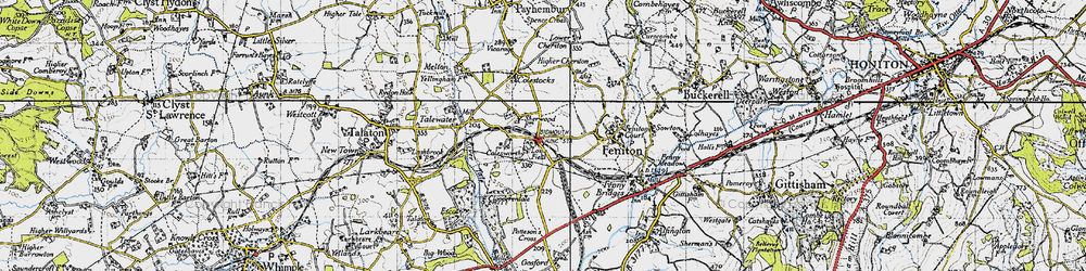 Old map of Feniton in 1946