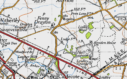 Old map of Ashpole Spinney in 1946