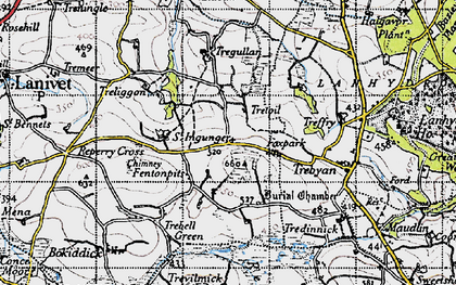 Old map of Fenton Pits in 1946