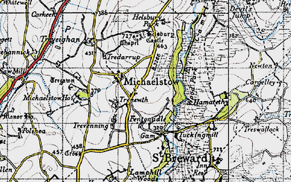 Old map of Fentonadle in 1946