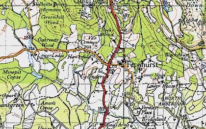 Old map of Fernhurst in 1940