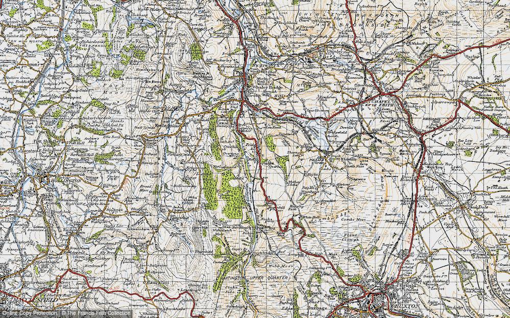 Old Map of Fernilee, 1947 in 1947