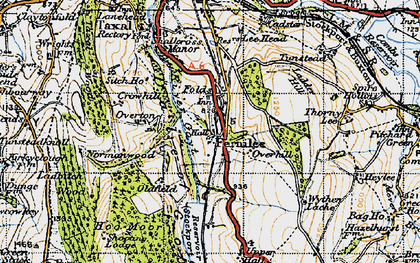 Old map of Goyt Valley in 1947