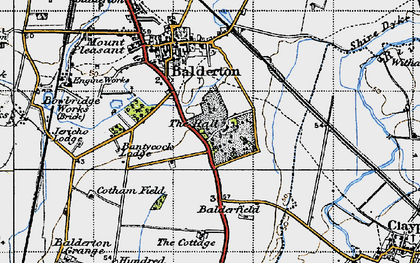 Old map of Balderfield in 1946
