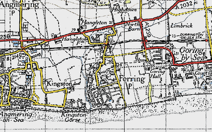 Old map of Ferring in 1940