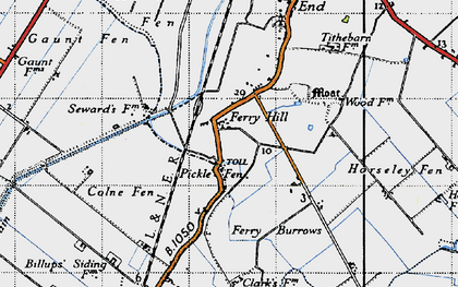 Old map of Acre Fen in 1946