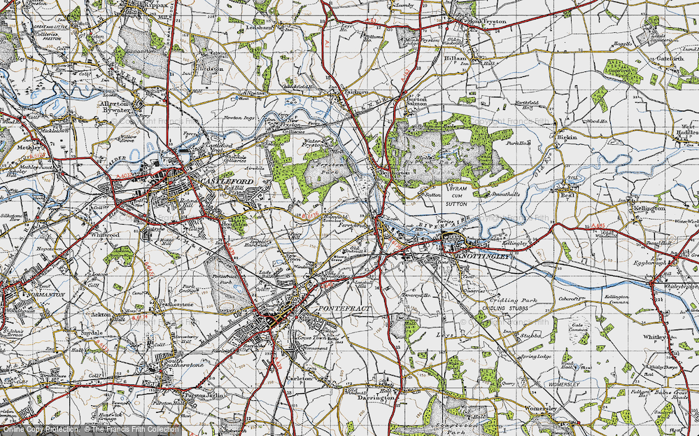 Old Map of Ferrybridge, 1947 in 1947