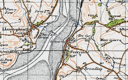 Old map of Ferryside in 1946