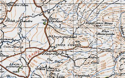Old map of Y Felin Fach in 1947