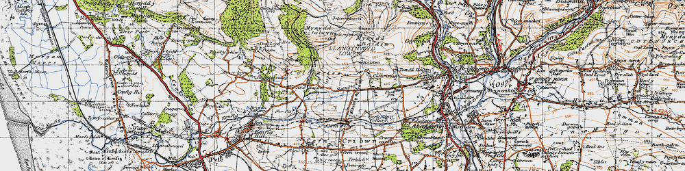 Old map of Ton Philip in 1947