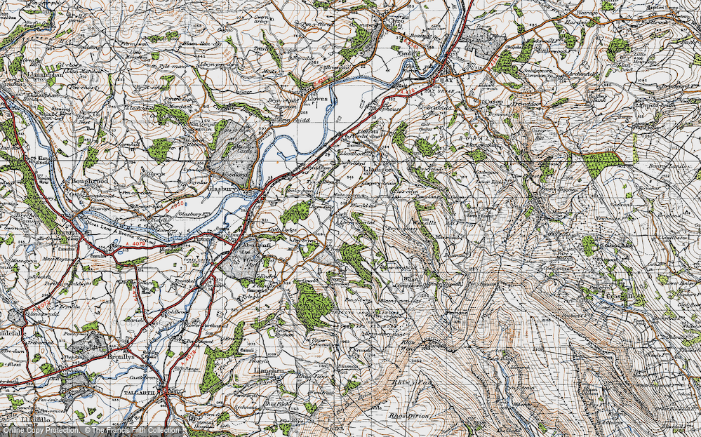 Old Map of Historic Map covering Allt Wood in 1947