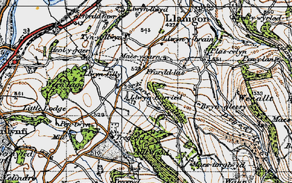 Old map of Allt Wood in 1947