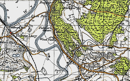 Old map of Wood View in 1947