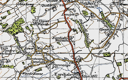Old map of Lemore Manor in 1947