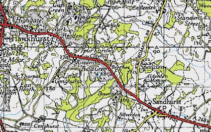 Old map of Alderden Manor in 1940