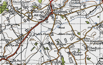 Old map of Alton Cross in 1947