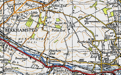 Old map of Fields End in 1946
