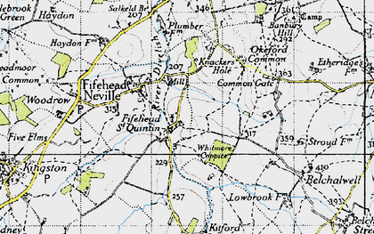 Old map of Whitmore Coppice in 1945