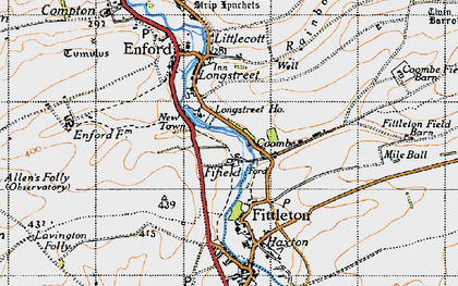 Old map of Fifield in 1940