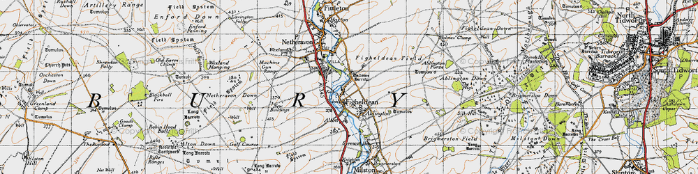 Old map of Ablington Furze in 1940