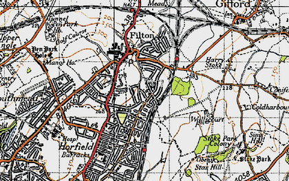 Old map of Filton in 1946