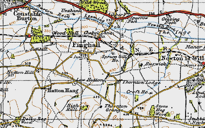 Old map of Akebar Cotts in 1947