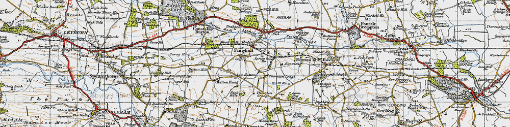 Old map of Leeming Beck in 1947