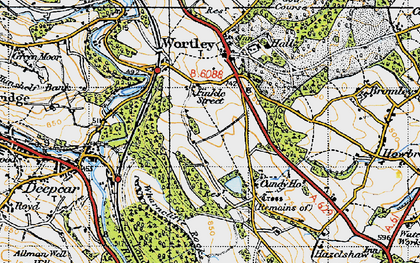 Old map of Wharncliffe Resr in 1947