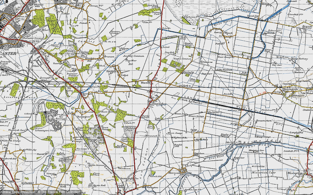 Old Map of Finningley, 1947 in 1947