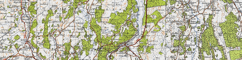 Old map of Yew Barrow in 1947