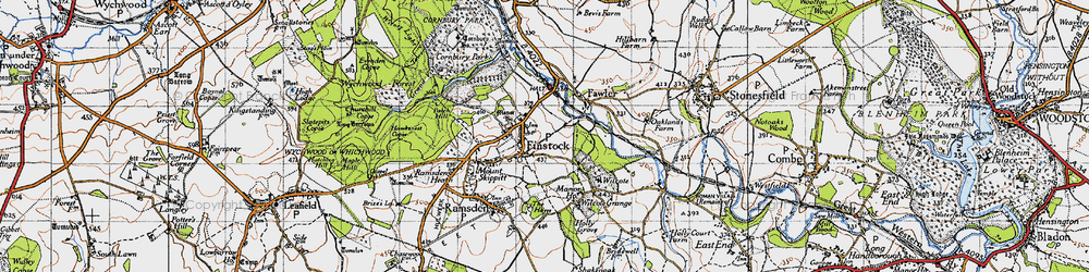 Old map of Wilcote Ho in 1946