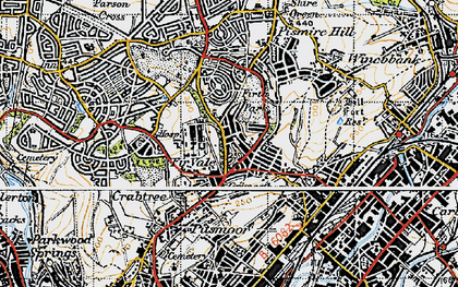 Old map of Fir Vale in 1947