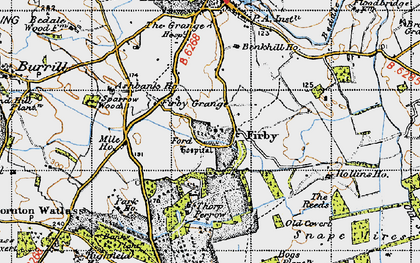 Old map of Banks Plantn in 1947