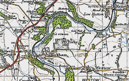 Old map of Badger Bank in 1947