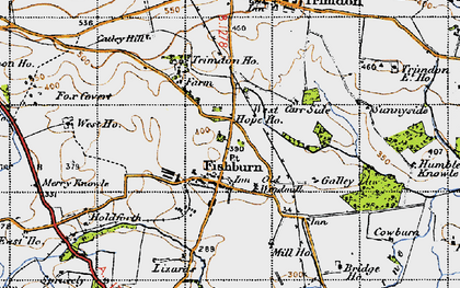 Old map of Weterton Ho in 1947